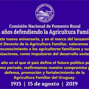 CNFR cumple 104 años reafirmando su compromiso con la Agricultura Familiar